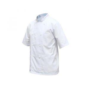 Jaleca modelo cozinheiro manga curta em sarja