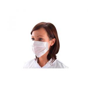 Máscara de higiene em papel de duas camadas