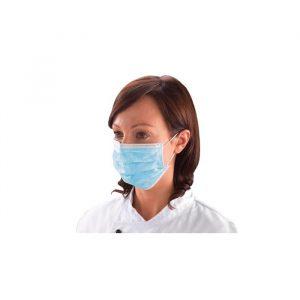 Máscara cirúrgica em polipropileno não tecido de três camadas